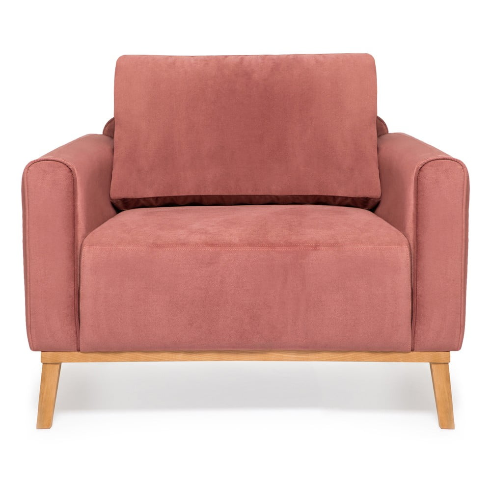Jasnoróżowy fotel Vivonita Milton Trend