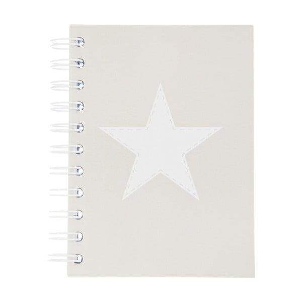Notes Stars Grey