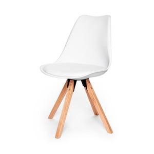 Białe krzesło z konstrukcją z drewna bukowego loomi.design Eco