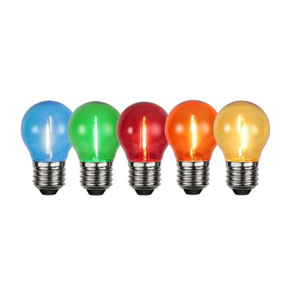 Zestaw 5 kolorowych żarówek LED Filament