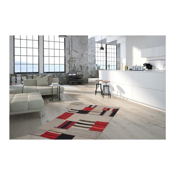 Beżowo-czerwony dywan Intenso, 160x230cm
