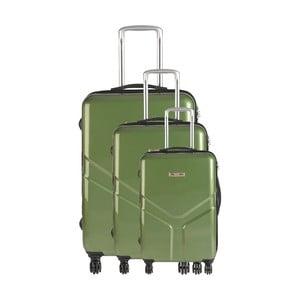 Zestaw 3 walizek podróżnych Majestik Green