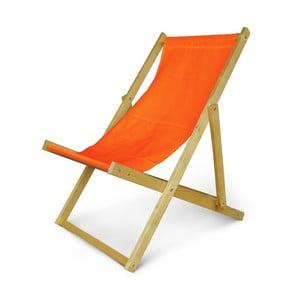 Regulowany leżak drewniany JustRest, pomarańczowy