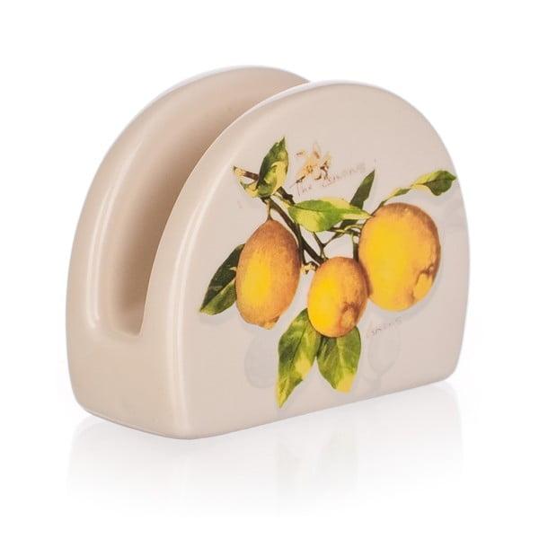 Ceramiczny serwetnik Banquet Lemon