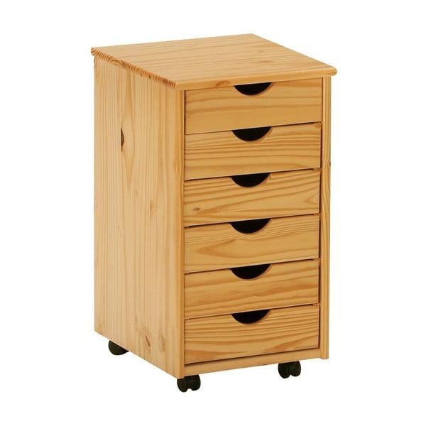 Drewniana szafka na kółkach 13Casa Office