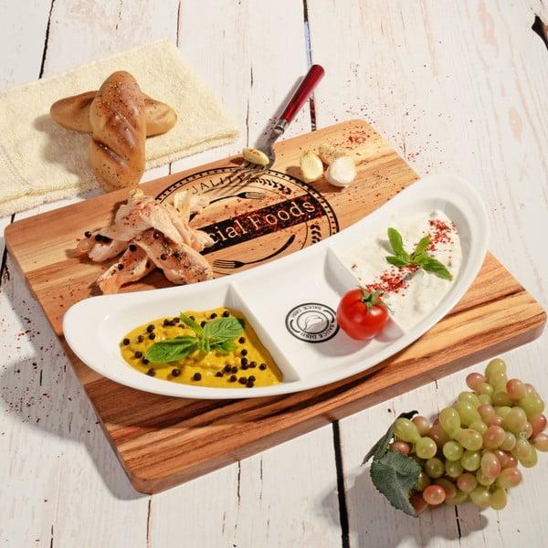 Bambusowa deska do serwowania z miską Foods