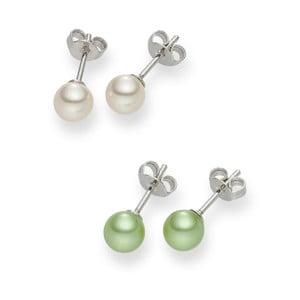 Komplet 2 par kolczyków perłowych Nova Pearls Asopos