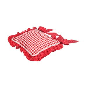 Poszewka na poduszkę na krzesło Basic Hearts 40x40 cm, czerwony