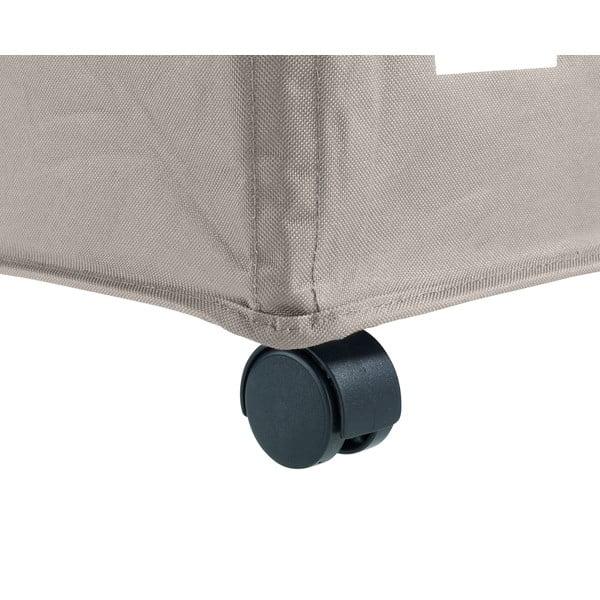 Beżowy potrójny kosz na pranie Wenko Trivo, 117,6 l
