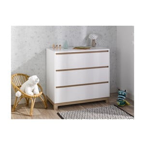 Biała komoda z 3 szufladami BEBE Provence Escapade