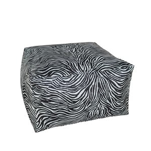 Czarno-biały puf 13Casa Print