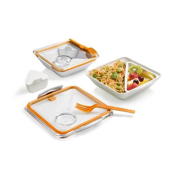 Pojemnik na lunch Box Apetit, biały/pomarańczowy