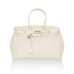 Skórzana torebka Emdo, biała