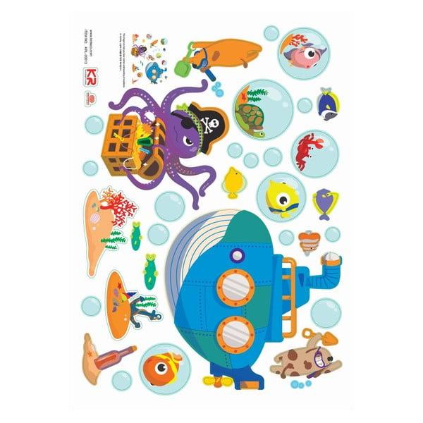 Zestaw naklejek Ambiance Octopus and Submarine