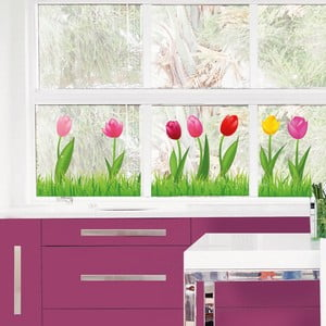 Naklejka na okno Happy Tulips