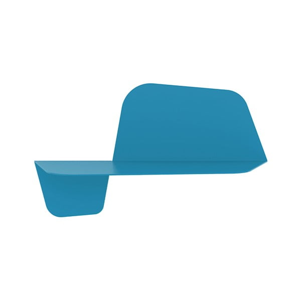 Niebieska półka ścienna MEME Design Flap, 60cm