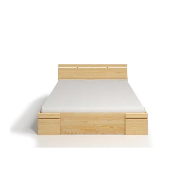 Łóżko 2-osobowe z drewna sosnowego z szufladą SKANDICA Sparta Maxi, 200x200 cm