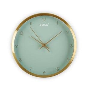 Zielony zegar w ramie w kolorze złota Versa Runna, ⌀ 25,8 cm