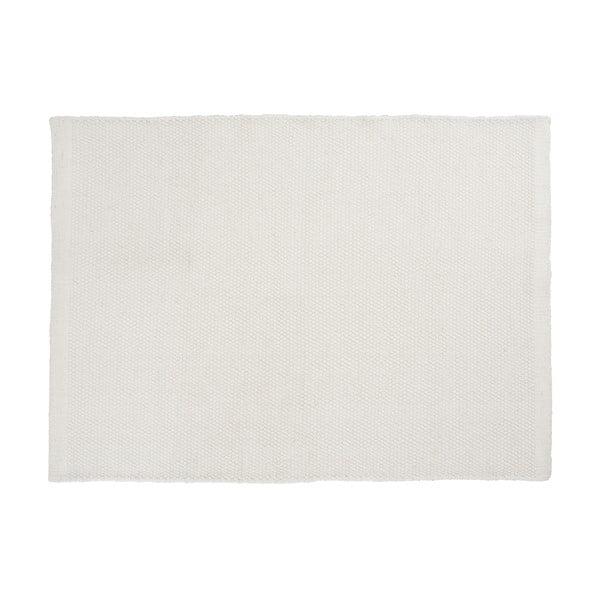 Wełniany dywan Bombay White, 80x200 cm