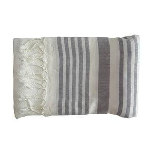 Szary ręcznie tkany ręcznik z bawełny premium Petek,100x180 cm