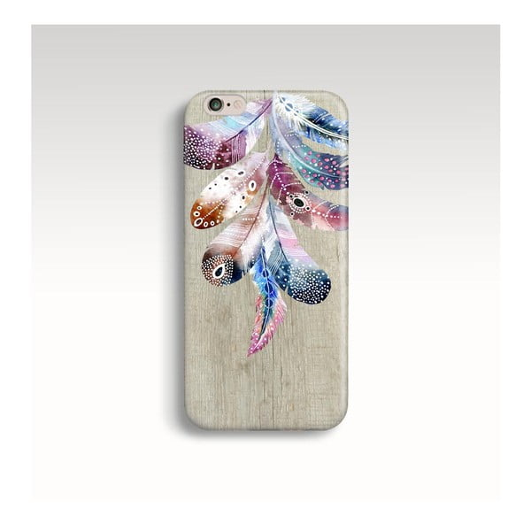 Etui na telefon Wood Feathers na iPhone 5/5S