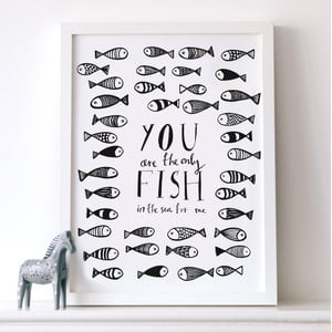 Plakat Only Fish, 30x40 cm