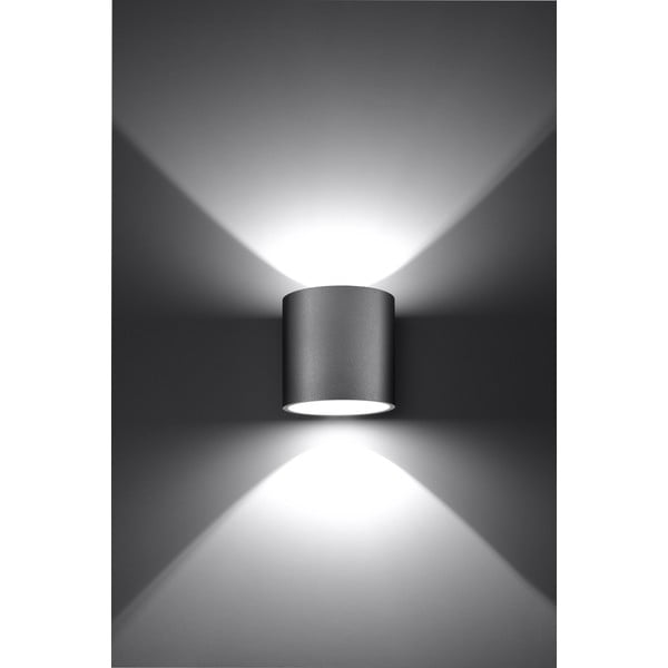 Szary kinkiet Nice Lamps Roda 1