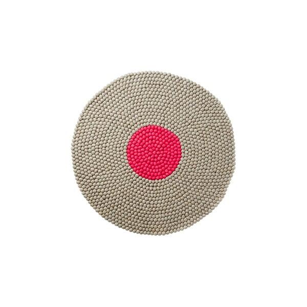 Wełniany dywan Wool Mat Round Pink, 90x90 cm