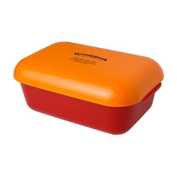 Pojemnik z wkładem chłodzącym Frozzypack Joyful Edition, red/orange