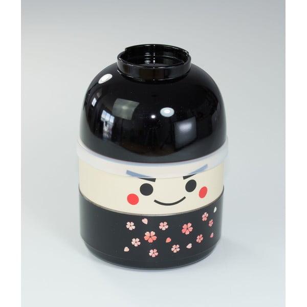 Dziecięce pudełko na drugie śniadanie Kokeshi Black, 440 ml