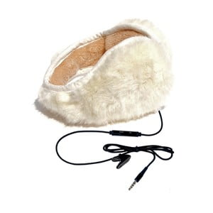 Nauszniki ze słuchawkami Hi-Ear  Long Hair White
