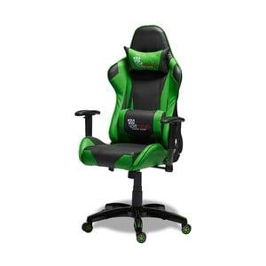 Czarno-zielone krzesło biurowe Knuds Gaming