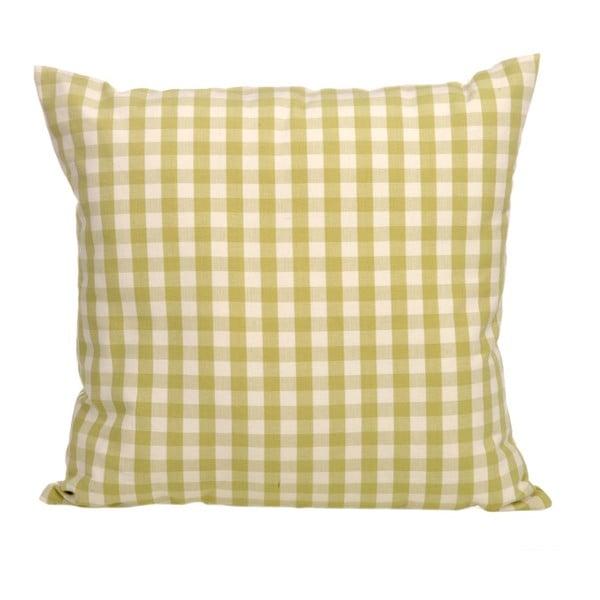 Poduszka z wypełnieniem Vichy 45x45 cm, zielona/biała