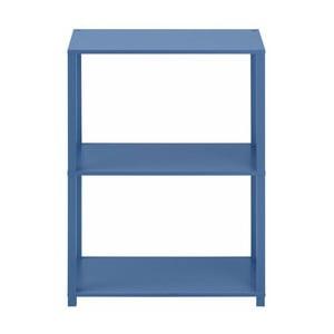 Niebieski regał drewniany z 3 półkami Støraa Damien