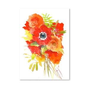 Plakat Anemones in Red (projekt Suren Nersisyan)