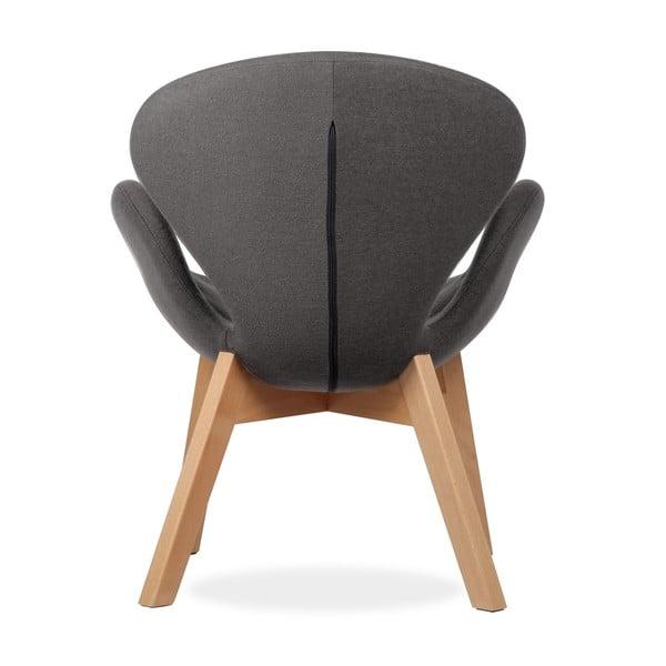 Krzesło Swan Wood Arms Fabrik Darkness