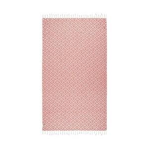 Pomarańczowy ręcznik hammam Kate Louise Bonita, 165x100 cm