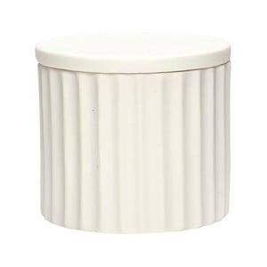 Biały pojemnik porcelanowy z wieczkiem Hübsch Dilacerant