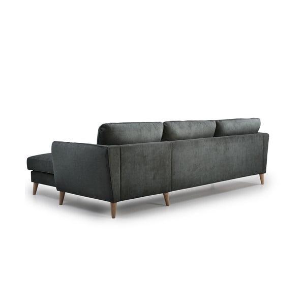 Antracytowoszara sofa Softnord Paris, prawy róg