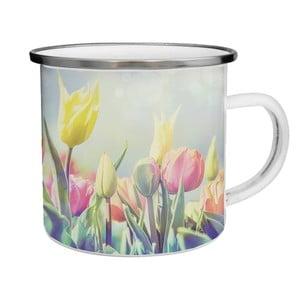 Kubek emaliowany w tulipany TinMan, 200 ml