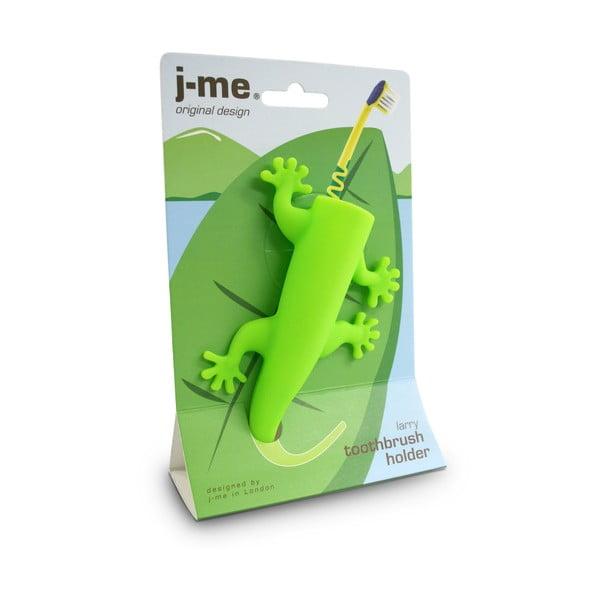 Zielony uchwyt na szczoteczki do zębów J-Me Larry