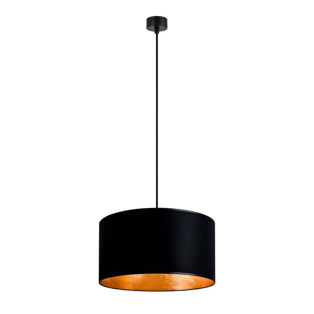 Czarna lampa wisząca z wnętrzem w złotej barwie Sotto Luce Mika, ∅ 36 cm