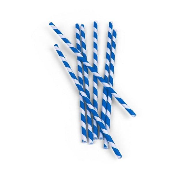Zestaw 144 niebiesko-białych słomek Kikkerland
