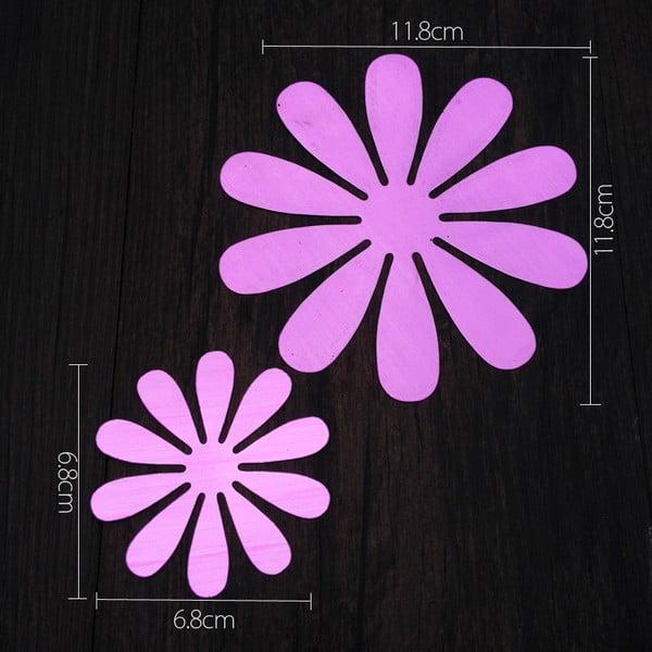 Naklejka 3D Flowers Purple (12 sztuk)