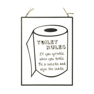 Tablica Parlane Toilet Rules