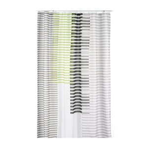 Zasłona prysznicowa Lamara, szara/zielona, 180x200 cm