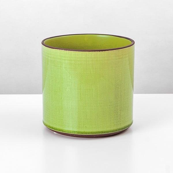 Ceramiczna osłona na doniczkę Jungle Limetka, 17x18 cm