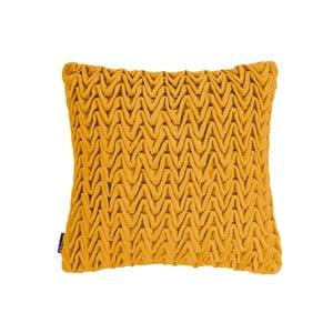 Żółta poduszka ZicZac Waves, 45x45 cm