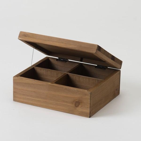Pojemnik z drewna jodłowego Compactor Vintage Box, 18,2x15,2 cm
