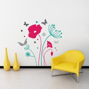 Naklejka ścienna Butterflies and Flowers